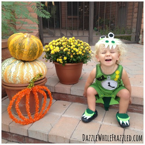 Super cute DIY Tick Tock Croc Halloween costume for Captain Hook-Neverland group costume.