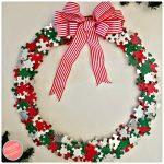 DIY Unique Festive Christmas Wreath from Puzzle Pieces