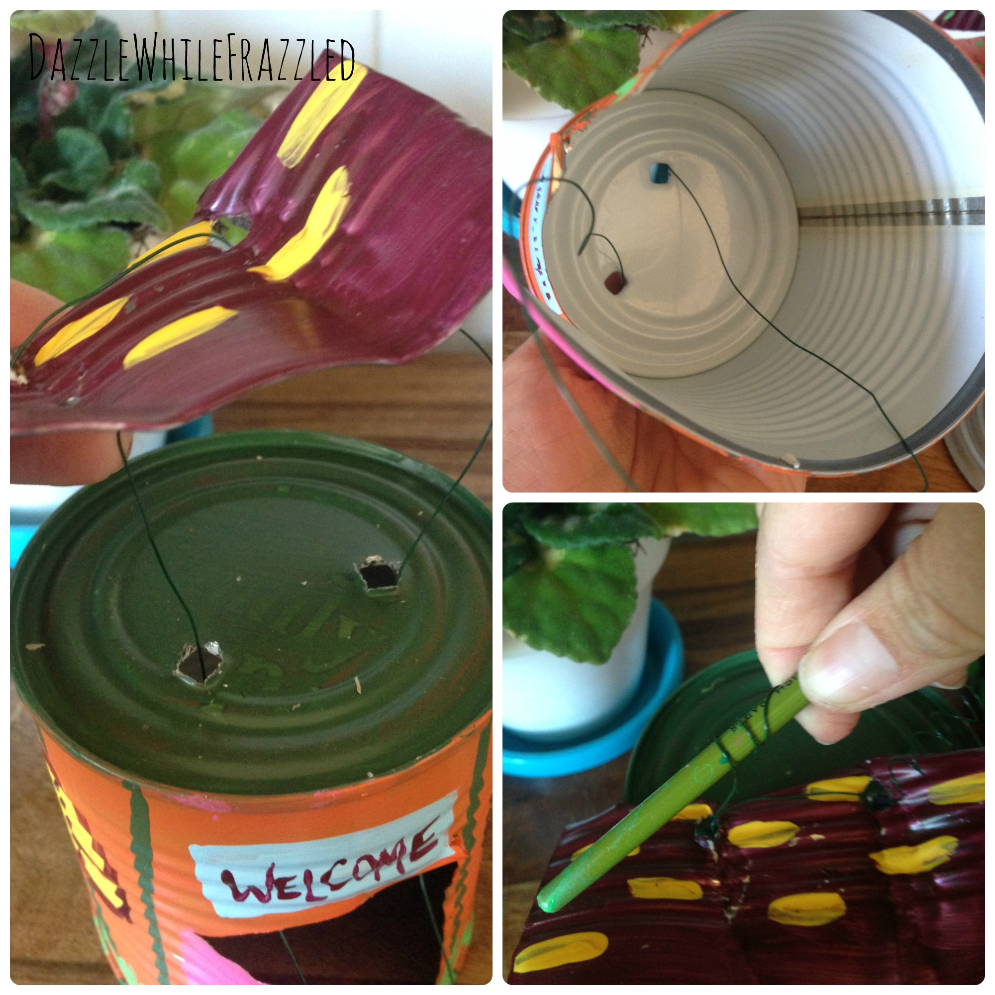 How To Make a Fairy Garden House from Tin Can -