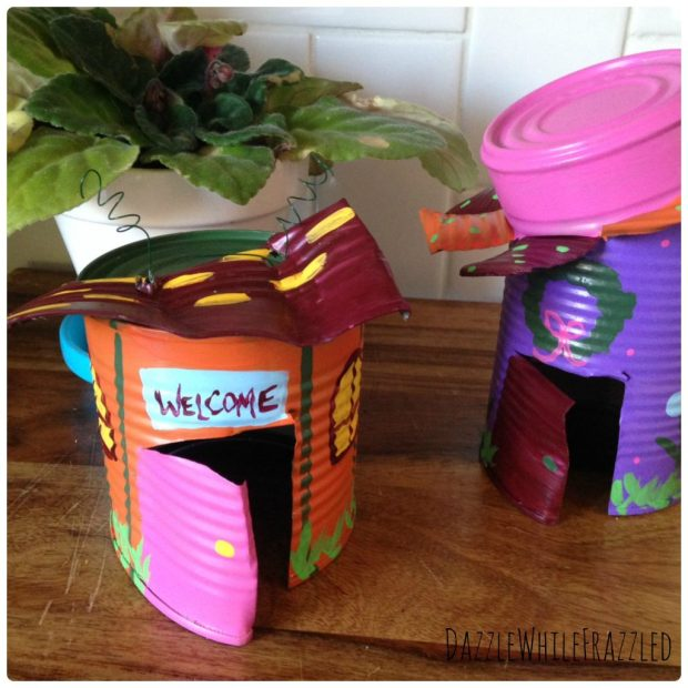 How to create a tin can fairy garden house