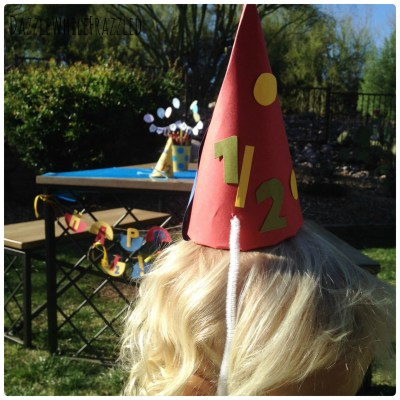 Throw your kids a half birthday party in half the time with DIY half birthday party supplies and decorations.