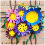 How To Make Flower Front Door Decor Using Plastic Nursery Pots