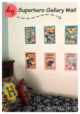 DIY Simple Superhero Gallery Wall