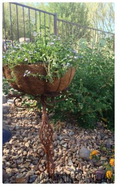 How to turn a candelabra into a garden planter