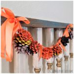 DIY Painted Pinecones Rustic Halloween Garland