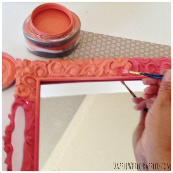 Turn a tray into a unique photo frame | DazzleWhileFrazzled.com
