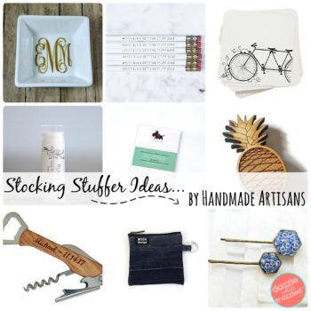 Cyber Monday shopping ideas for awesome and unique handmade stocking stuffers.