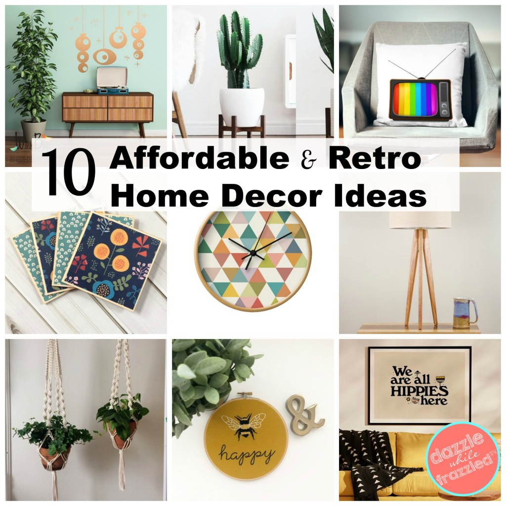 10 affordable and retro home decor ideas on Etsy.