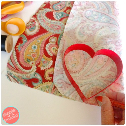 DIY Fabric Heart Decorations | DazzleWhileFrazzled.com
