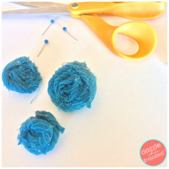 DIY Rolled Fabric Flowers | DazzleWhileFrazzled.com