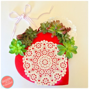 DIY Succulent Valentine's Day Wreath