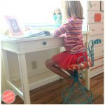 Updating a Vintage Vanity Chair To Use For Child's Desk