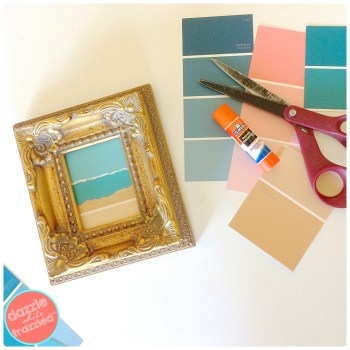 DIY Easy Paint Chip Beach Art | DazzleWhileFrazzled.com