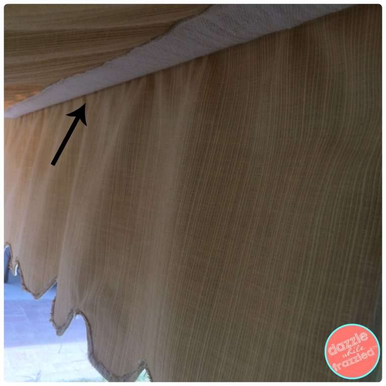 How to sew a fabric canopy cover for a kids backyard sandbox. Simple DIY sewing : diy canopy cover - memphite.com