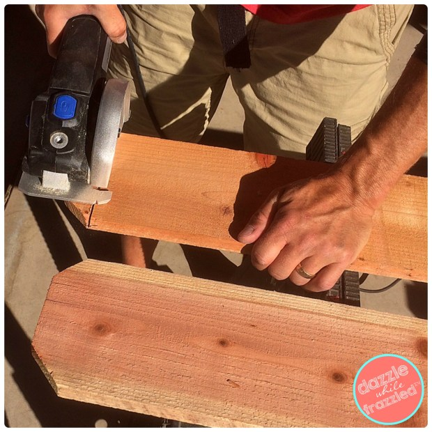 How to build a kids backyard sandbox from redwood fence pickets. Use TYLENOL to soothe DIY muscle aches and pains. | Dazzle While Frazzled.com