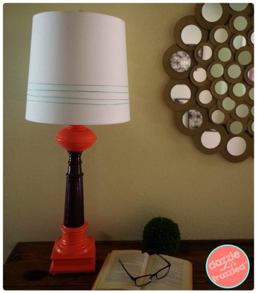 Update thrift store mid century modern table lamps with paint and twine | Dazzle While Frazzled.com