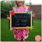 DIY Reusable Chalkboard Sign for First and Last Days of School