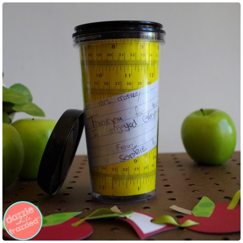 DIY School Teacher Appreciation Coffee Mug Gift and Thank You Note Idea | Dazzle While Frazzled.com