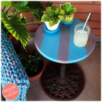 How to Make Patio Side Table from Old Umbrella Stand