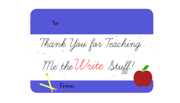"""DIY Easy and Cheap Pencil Pack Gift for Teacher Appreciation with Free """"Write Stuff"""" Printable 