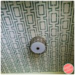 How to Stencil a Fun Pattern on a Ceiling