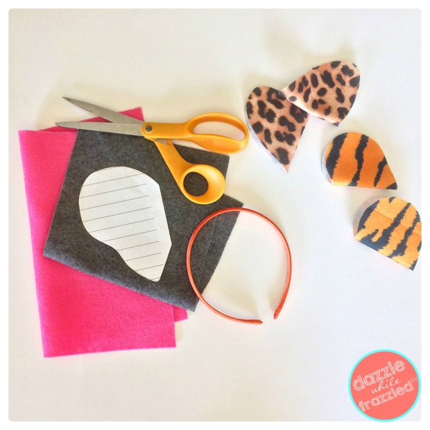 Use felt sheets to make fun animal ear headbands for kids | DazzleWhileFrazzled.com