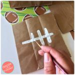 DIY Easy Paper Bag Football Snack Bags + Home Tailgating Party Tips