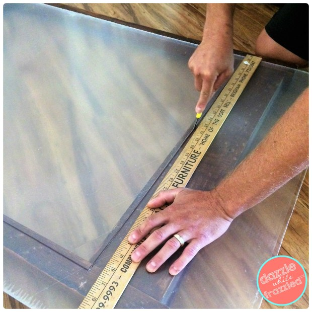 Insert plexiglass into dresser mirror frame for easy DIY large wall artwork | DazzleWhileFrazzled.com