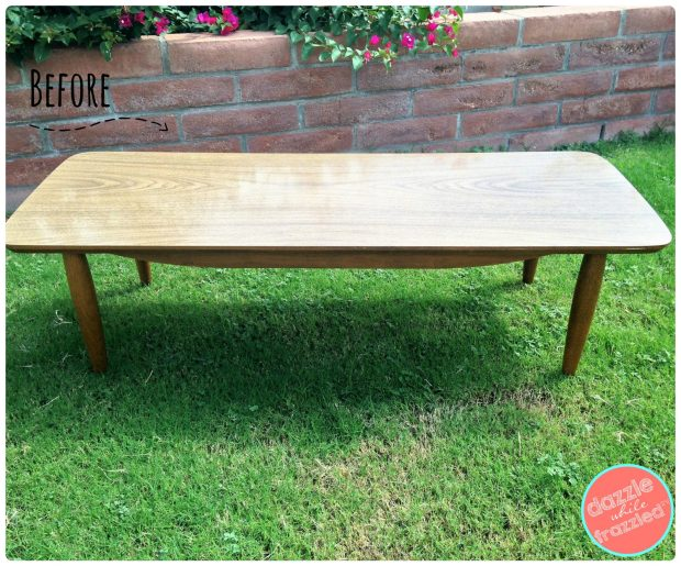 DIY mid-century modern coffee table makeover | DazzleWhileFrazzled.com