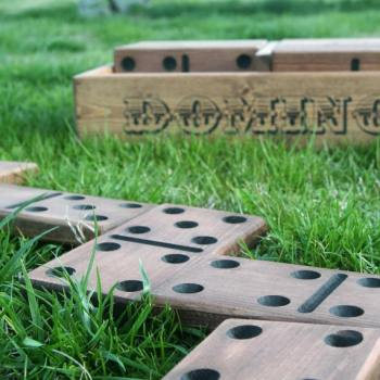10 insanely fun games for family Backyard Lawn Dominos