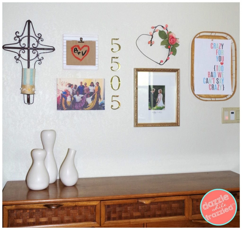 DIY layout a photo and art gallery wall in your home | DazzleWhileFrazzled.com