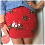 How To Make a Cute Skirt from Ugly Christmas Sweater