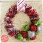 DIY 20-Minute Retro Tinsel Garland Wreath
