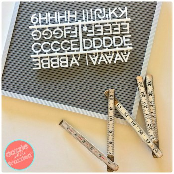 Repurpose vintage folding wooden ruler into DIY ruler-framed photo display
