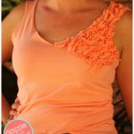DIY Ladies Ruffled Tank Top T-Shirt Hack