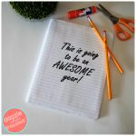 """This Is Going To Be An Awesome Year"" School Notebook Cover"