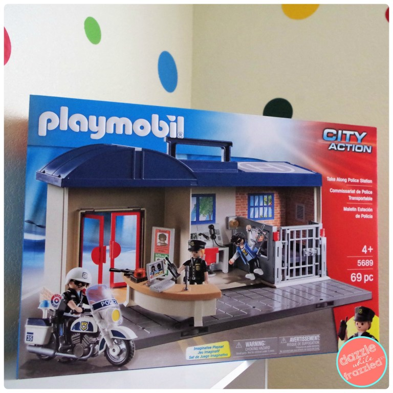 PLAYMOBIL Take Along Police Station for imaginative play for kids in DIY toy room for young kids.
