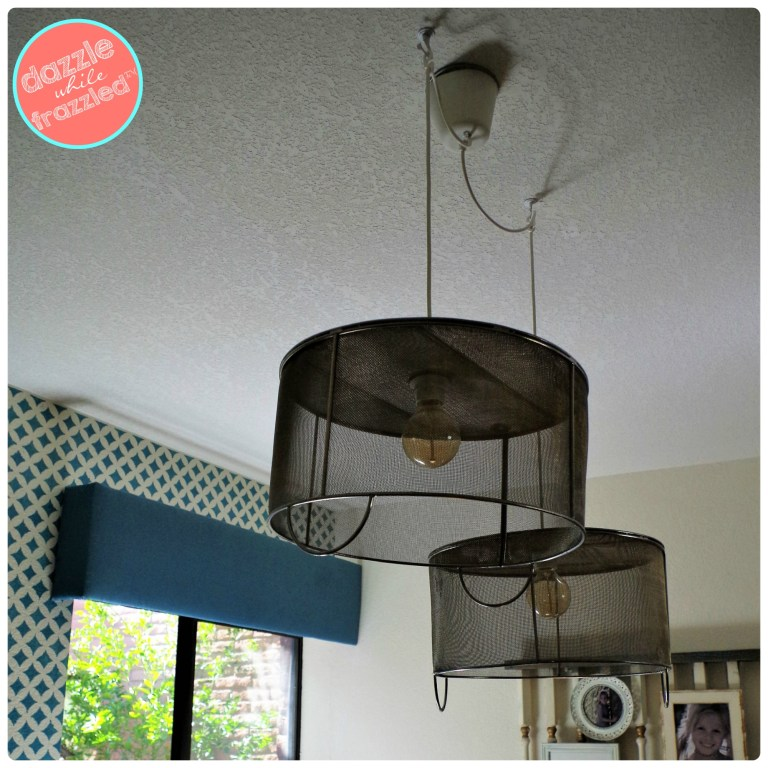 Create an eclectic home with metal mesh baskets turned hanging pendant light fixtures.
