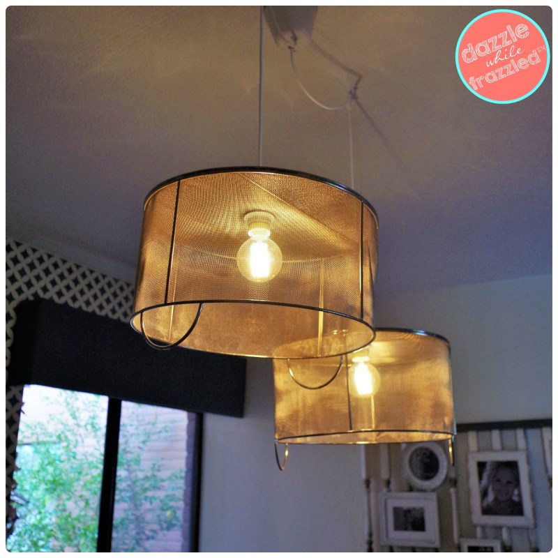 Upcycle vintage corn shucking baskets into farmhouse industrial pendant lighting for home.