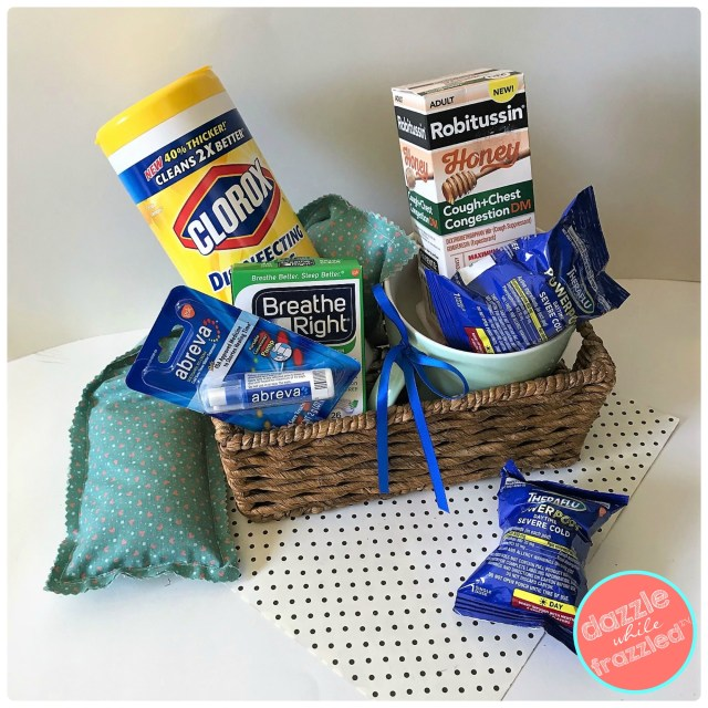 Keep your medicine chest well stocked this winter with Theraflu PowerPods, Clorox, Abreva, Breathe Right, and Robitussin. How to make a 10-minute easy sew DIY hot/cold rice pad.
