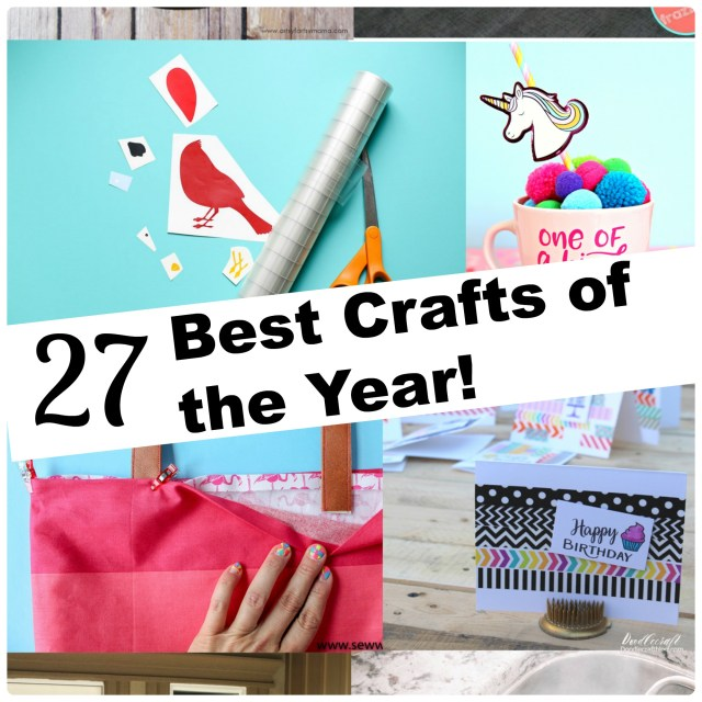 27 of the best crafts of the year from DIY craft and home decor bloggers.
