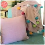 How to Easily, Quickly Add Pom Poms to Blanket
