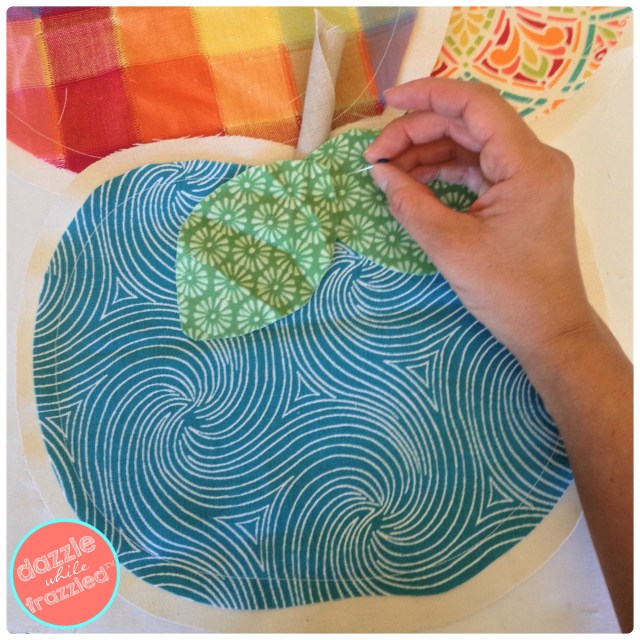Make colorful fabric pumpkins for farmhouse-inspired Thanksgiving table runner.