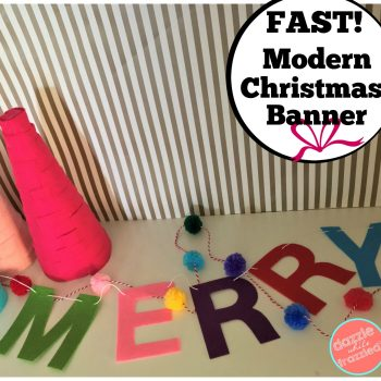Fast! Easy!! 10-minute felt craft sheets modern Christmas banner for Christmas home decorating.