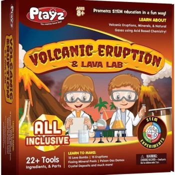 Learn how to make a volcano with DIY volcanic eruption science kit for kids.