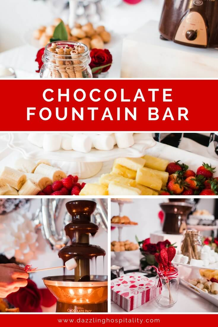 The Best Chocolate Fountain Bar Dazzling Hospitality