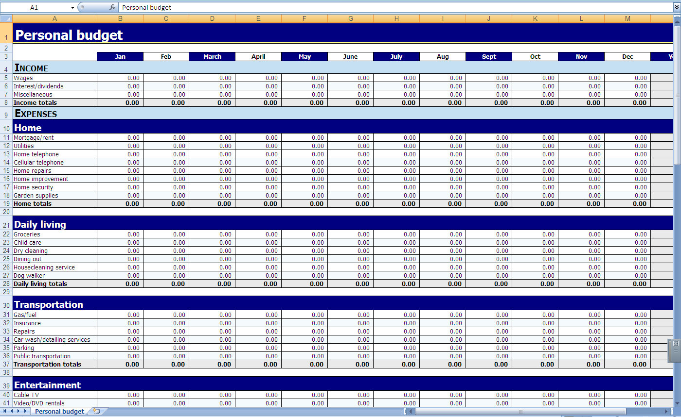 Expense Tracking Spreadsheet Template Expense Spreadsheet