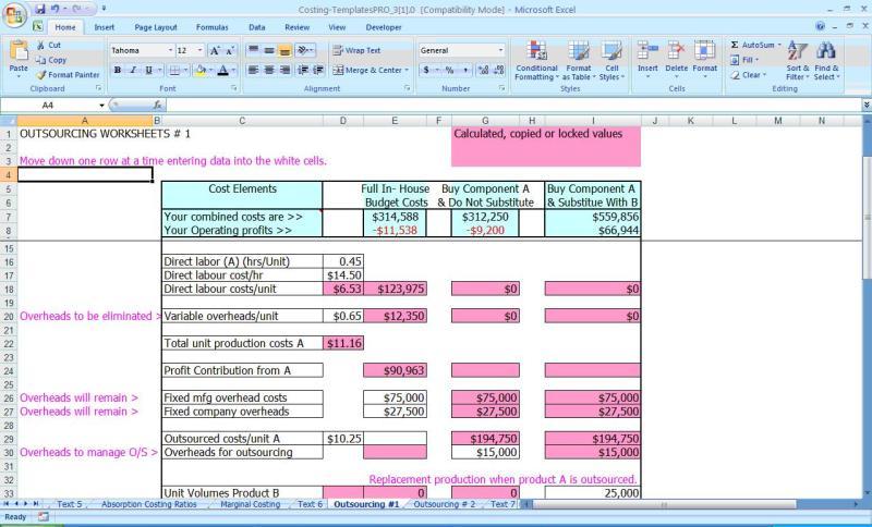 cost estimate worksheet template