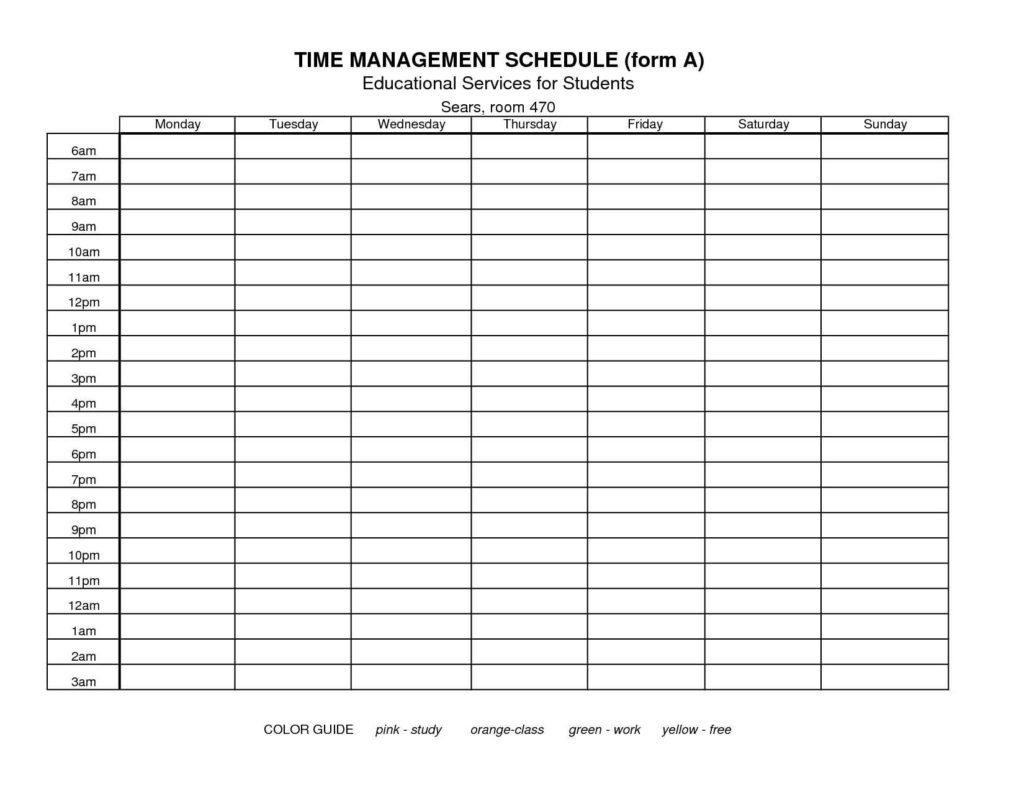 Time Management Spreadsheet Template Spreadsheet Templates