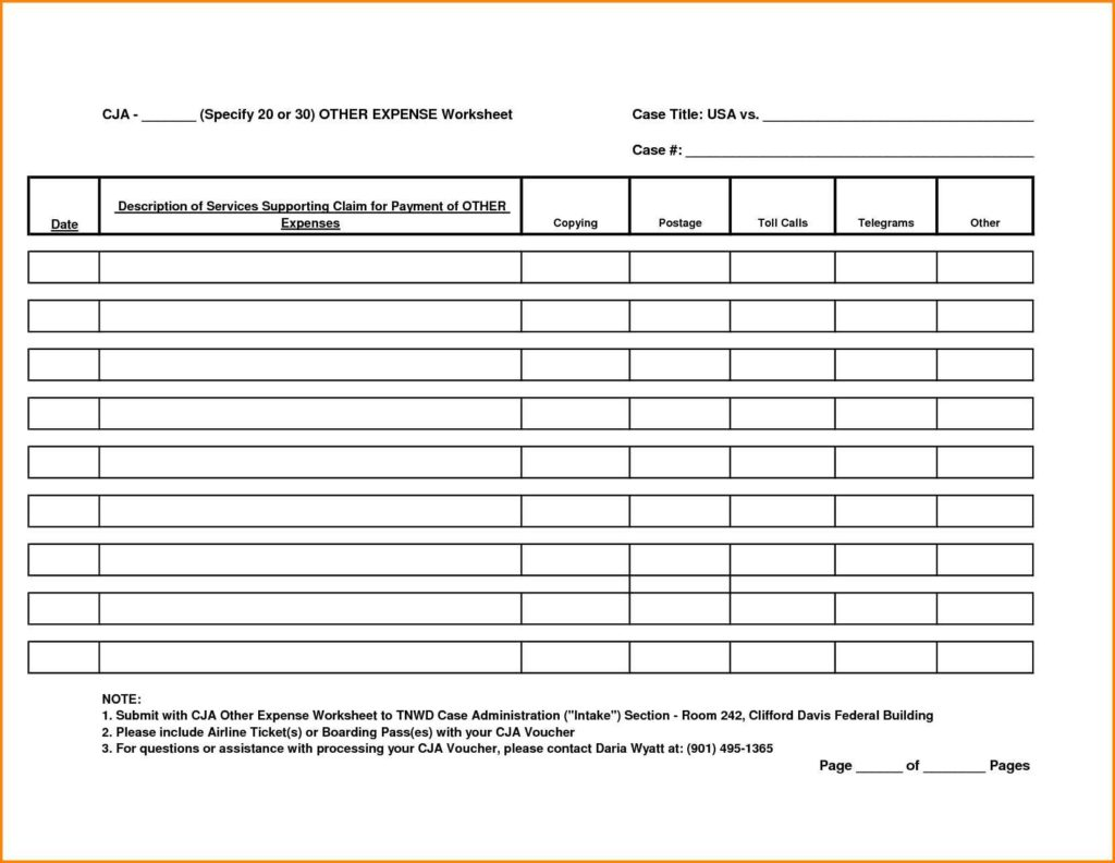 Handyman Estimate Sheet